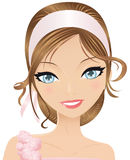 Roze meisje Royalty-vrije Stock Afbeeldingen