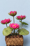 Roze met de hand gemaakte lotusbloem Royalty-vrije Stock Foto's