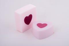 Roze met de hand gemaakte zeep royalty-vrije stock afbeelding