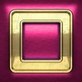 Roze metaalachtergrond met geel element Stock Afbeelding
