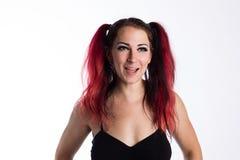Roześmiana Punkowa dziewczyna Zdjęcia Stock