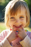 Roześmiany dziecko Fotografia Royalty Free