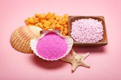 Roze mineralen voor Kuuroord royalty-vrije stock fotografie