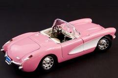 Roze modieuze klassieke sportwagen Stock Foto's