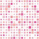Roze mozaïekachtergrond Stock Afbeelding