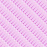 Roze Multicolored en Witte Polka Dot Abstract Design Tile Patt Stock Afbeelding