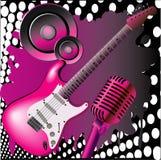 Roze muziek Stock Foto