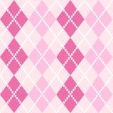 Roze naadloos Argyle Pattern voor Valentijnskaartendag Royalty-vrije Stock Fotografie