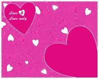 Roze naadloos Hart Stock Fotografie