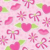 Roze naadloos patroon Royalty-vrije Stock Afbeeldingen