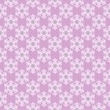 Roze naadloos sneeuwvlokpatroon Royalty-vrije Stock Foto's