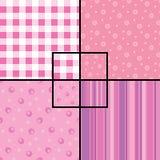 Roze naadloze patronen Stock Fotografie