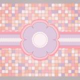 Roze naaiend malplaatje voor groetkaart Stock Fotografie