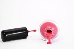 Roze nagellak Royalty-vrije Stock Foto's