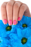Roze nagellak Royalty-vrije Stock Afbeelding