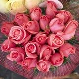 Roze nam bloemenboeket toe royalty-vrije stock foto's