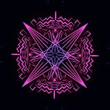 Roze neonornament op a royalty-vrije illustratie
