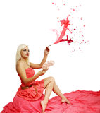 Roze nevel Stock Afbeelding