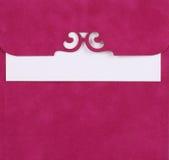 Roze nota royalty-vrije stock afbeelding