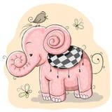 Roze olifant stock illustratie