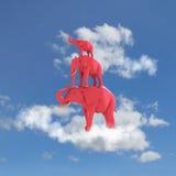 Roze olifant Stock Fotografie