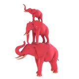 Roze olifant Stock Afbeelding