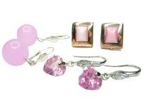 Roze oorringen Royalty-vrije Stock Foto