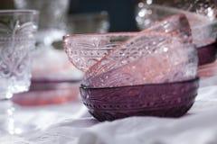 Roze op purple royalty-vrije stock afbeeldingen