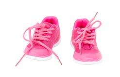 Roze opleidingsschoenen voor meisjes Stock Afbeelding