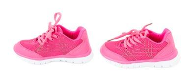 Roze opleidingsschoenen voor meisjes Royalty-vrije Stock Fotografie