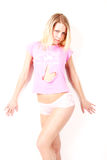 Roze overhemd Stock Foto