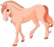 Roze paard royalty-vrije illustratie