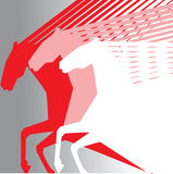 Roze paarden Royalty-vrije Stock Afbeeldingen