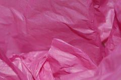 Roze Papieren zakdoekje Stock Foto