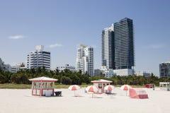 Roze paraplu's Royalty-vrije Stock Foto's
