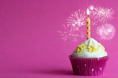 Roze partij cupcake Royalty-vrije Stock Afbeeldingen