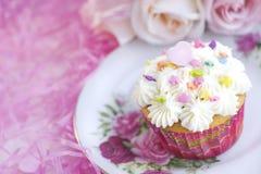 Roze Partij Cupcake Royalty-vrije Stock Foto