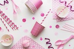 Roze Partijachtergrond Stock Afbeeldingen