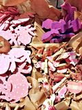 Roze Pasen-kaartachtergrond Stock Foto's