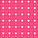 Roze patronen met sterren en strepen Prinsesreeks Royalty-vrije Stock Foto