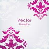 Roze patroon op een lichte achtergrond Stock Fotografie