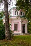 Roze paviljoen in het park Sofievka Uman; De Oekraïne Royalty-vrije Stock Fotografie