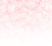 Roze peachy en witte bokeh abstracte achtergrond Royalty-vrije Stock Fotografie
