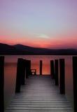 Roze Pier Royalty-vrije Stock Foto's