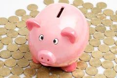 Roze piggy-bank royalty-vrije stock foto