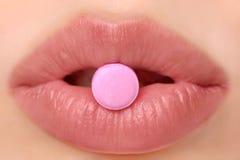 Roze pil stock fotografie