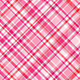 Roze Plaid Royalty-vrije Stock Foto's