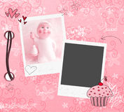 Roze plakboekmalplaatje Royalty-vrije Stock Foto's