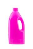 Roze plastic bleekmiddelfles Stock Afbeeldingen