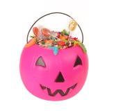 Roze plastic pompoen Stock Fotografie